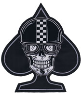 Lethal Threat Racer Spade Skull Patch