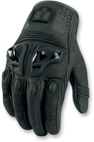 ICON Justice - Stealth Leather Men's Motorcycle Gloves