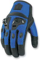 ICON Justice Men's Blue Mesh Motorcycle Gloves