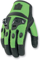 ICON Justice Men's Green Mesh Motorcycle Gloves