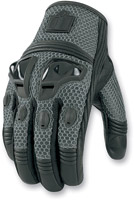 ICON Justice Men's Slate Mesh Motorcycle Gloves