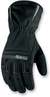 ICON Men's PDX Waterproof Black Gloves