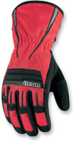 ICON PDX Waterproof Red Gloves