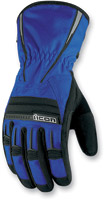 ICON PDX Waterproof Blue Gloves