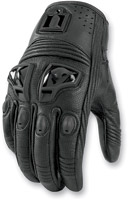 ICON Justice - Stealth Leather Women's Motorcycle Gloves