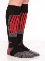 SOKz Silver Socks Tall Red