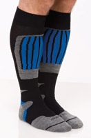 SOKz Silver Socks Tall Blue