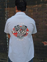 Sick Boy Men's Pinstripe Gray Work Shirt