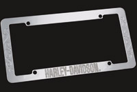 DMS Harley-Davidson Jeweled Chrome Auto License Frame