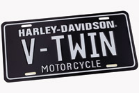 DMS Harley-Davidson V-Twin Black Auto License Plate