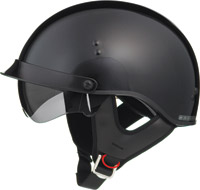 GMAX GM55 Full Dress Black Half Helmet with Retractable Sun Shield