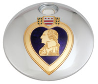 Custom Engraving Ltd. Purple Heart Fuel Door Cover