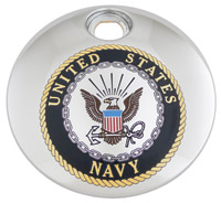 Custom Engraving Ltd. Navy Fuel Door Cover
