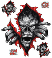 Lethal Threat Zombie Rip Decal