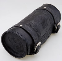 Convict Custom Cycles Black Leather Hand Made Tool Bag