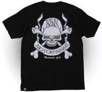 K&N Skull and Bones Short-Sleeve Black T-shirt