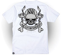 K&N Skull and Bones Short-Sleeve White T-shirt
