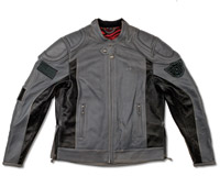 Roland Sands Design Mission Charcoal Leather Jacket