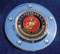 MotorDog69 Timing Cover Coin Mount with Veteran Marine Coin
