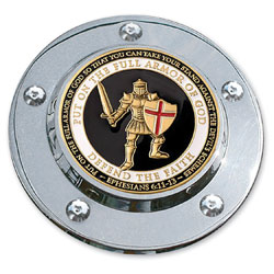 MotorDog69 Timing Cover Coin Mount with Armor of God Coin