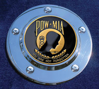 MotorDog69 Timing Cover Coin Mount with POW-MIA Coin