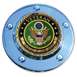 MotorDog69 Timing Cover Coin Mount with Veteran Army Coin