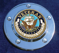 MotorDog69 Timing Cover Coin Mount with Veteran Navy Coin