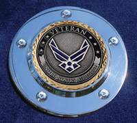 MotorDog69 Timing Cover Coin Mount with Veteran Air Force Coin