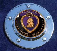 MotorDog69 Timing Cover Coin Mount with Purple Heart Coin