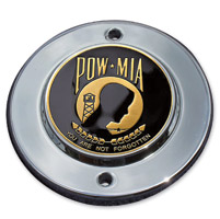 MotorDog69 Chrome 2-hole Coin Mount with POW-MIA Coin