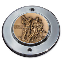 MotorDog69 Chrome 2-hole Coin Mount with Vietnam Veteran Coin