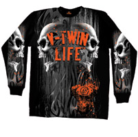 Hot Leathers V-Twin Life Long-Sleeve T-shirt