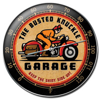 Busted Knuckle Retro-Rider Thermometer