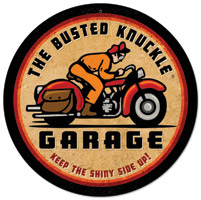 Busted Knuckle Retro-Rider 14″ Round Sign