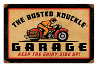 Busted Knuckle Retro-Rider Rectangular Sign