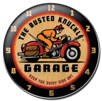 Busted Knuckle 14″ Retro-Rider Wall Clock