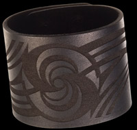 Bico Laser Etched Circle of Life Leather Cuff