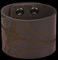 Bico Laser Etched Sacred Leather Cuff