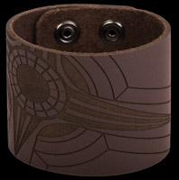 Bico Laser Etched Ethereal Leather Cuff