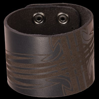 Bico Laser Etched Celt Leather Cuff