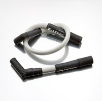 Hot Fire Spark Plug Wires White for Touring Models