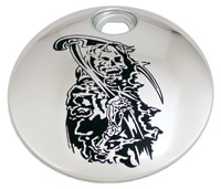 Custom Engraving Ltd. Grim Reaper Fuel Door