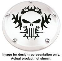 Custom Engraving Ltd. Tribal Skull Fuel Door