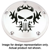Custom Engraving Ltd. Tribal Skull Fuel Door