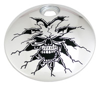 Custom Engraving Ltd. Breaking Thru Skull Fuel Door