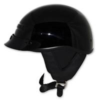 Zox Alto Custom Gloss Black Half Helmet