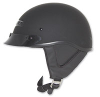 Zox Alto Custom Matte Black Half Helmet