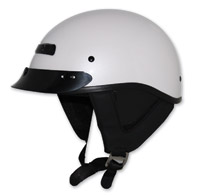 Zox Alto Custom Pearl White Half Helmet