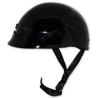 Zox Nano Custom Gloss Black Half Helmet