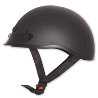 Zox Nano Custom Matte Black Half Helmet